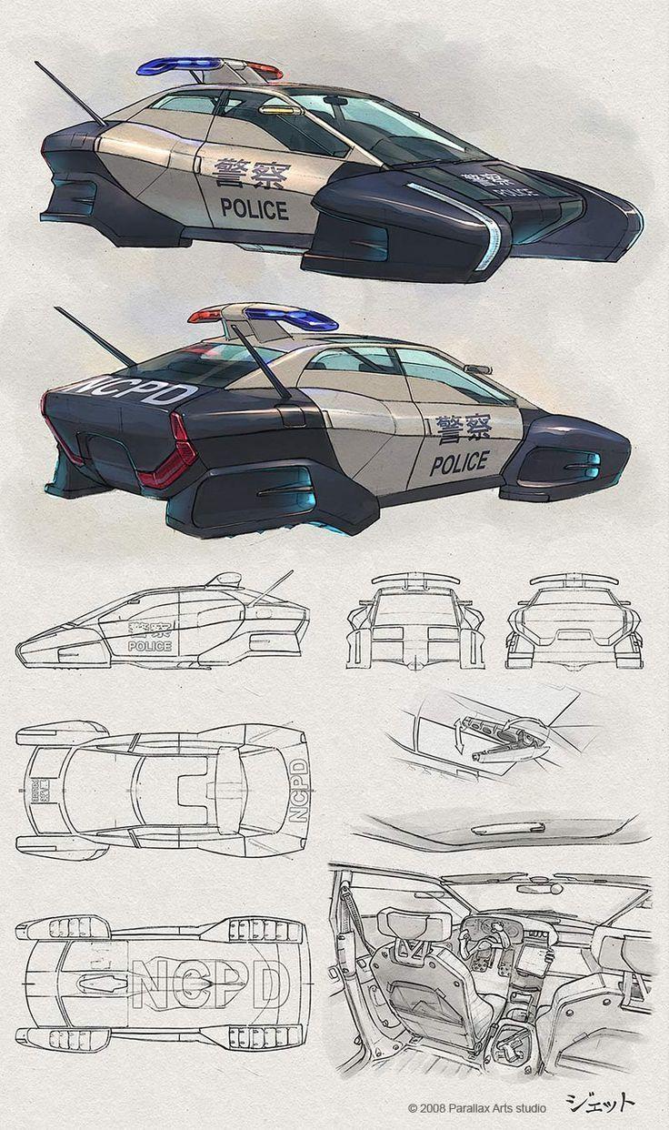 AnatoRef — Sci-Fi Vehicle Concept Art by Dmitry Popov