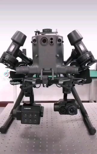 DJI M300 RTK with FLIR thermal camera and multispectral NDVI camera
