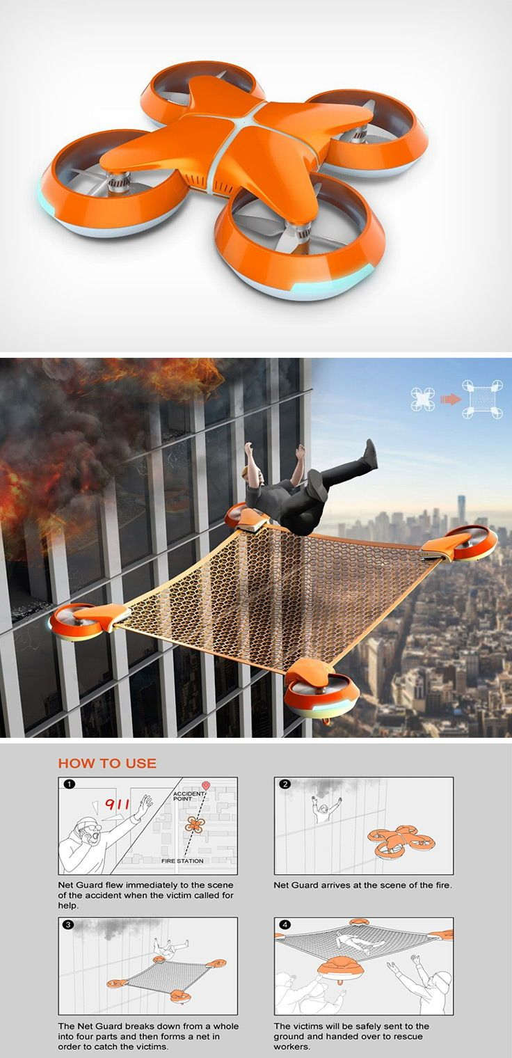 This Rescue Drone turns into a human safety net