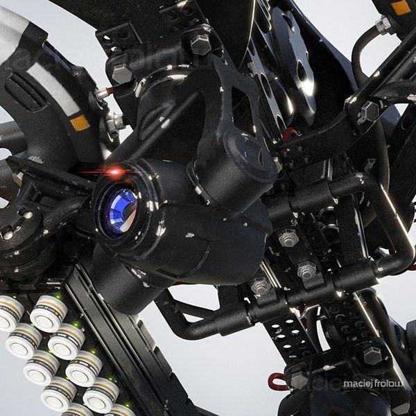 Maciej Frolow - Illustrator - Police heavy drone